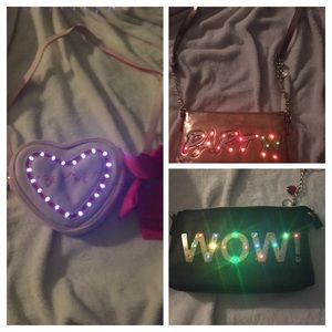 3 new betsey johnson purses that light up